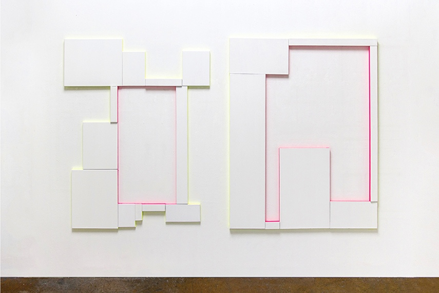 Patric Sandri - Untitled (Compositions with Canvas and 2 Colors), 2016