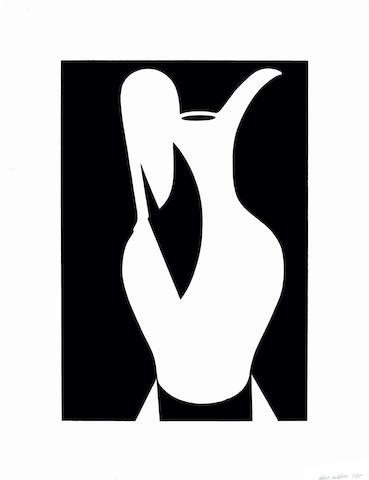 Patrick Caulfield-Large White Jug, from White Ware Prints-1990