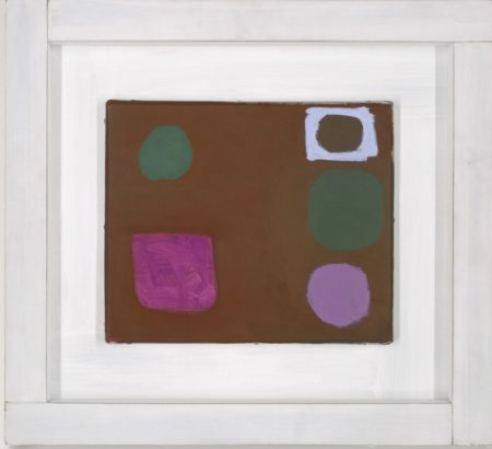 Patrick Heron-Five Shapes In Brown : 3 March 1962-1962