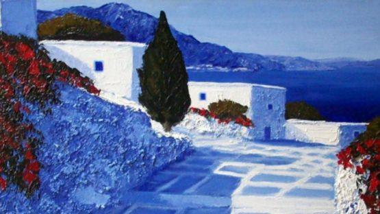 Patrick Reault - Le cyprès (Detail) - Image Copyright Galerie Perahia