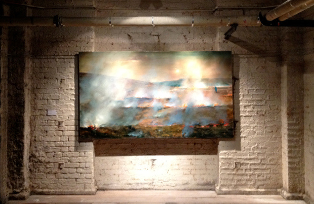 "Paul Benney - Burning Moor, 2005, in Somerset House's Deadhouse, 2012, from the ""Night paintings"" series, photo credits - Smiths Magazine"