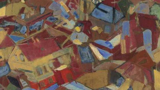 Paul Busch - Burschen Mein Dorf (detail) - image via christiescom