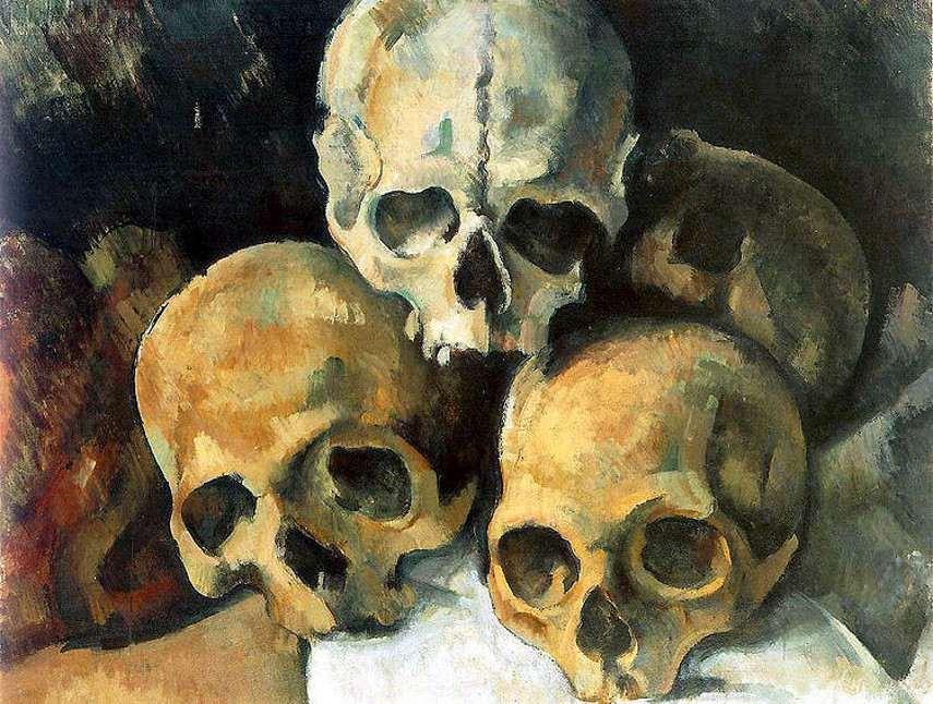 Paul Cézanne - Pyramid of Skulls, 1901