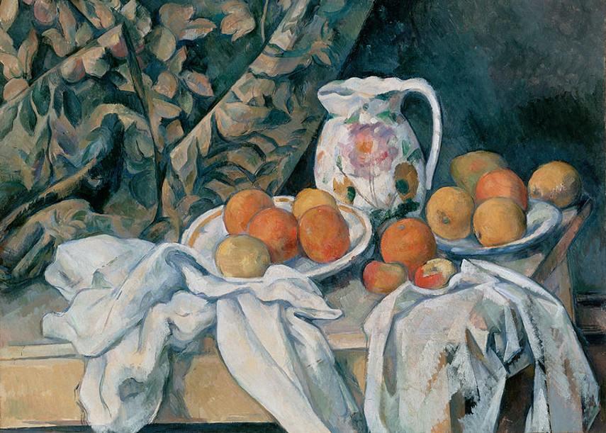 Paul Cézanne - Still Life with a Curtain, 1895
