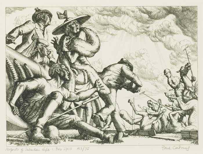 Paul Cadmus-Polo Spill (Aspects Of Suburban Life)-1938