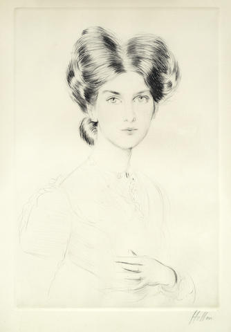 Paul Cesar Helleu-Female Portrait-