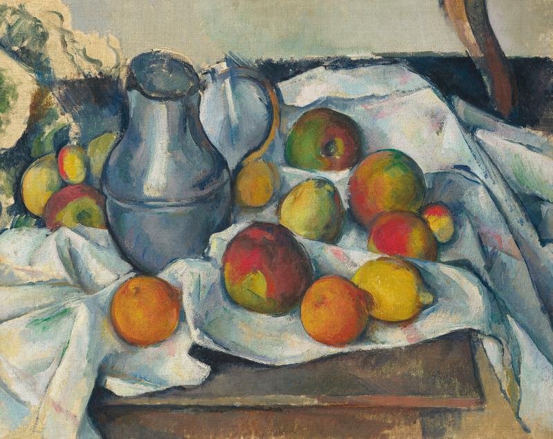 Paul Cezanne - Bouilloire et fruits