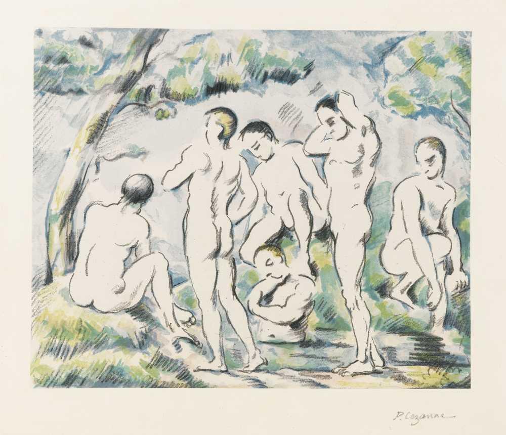 Paul Cezanne-Les Baigneurs, Petite Planche-1897