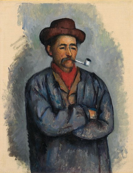 Paul Cezanne - Man with a Pipe Study for The Card Players