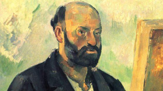 Paul Cezanne - Self-Portrait with Palette (detail) - 1890
