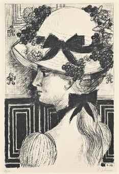 Paul Delvaux-Chapeau 1900-1972