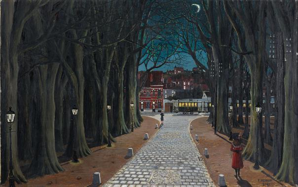 Paul Delvaux-Soir D'Hiver-1961