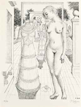 Paul Delvaux-Sunday Dress-1967