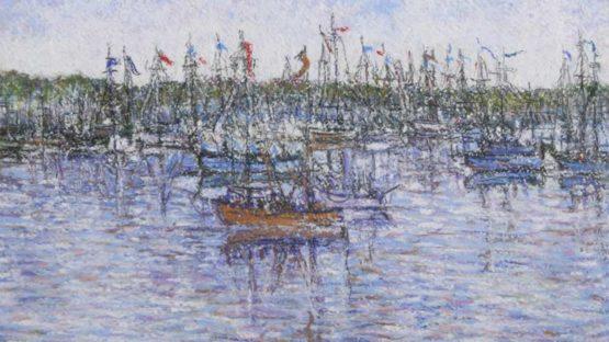 Paul-Emile Pissarro - Le Bateau Rouge, ca 1950 (detail)