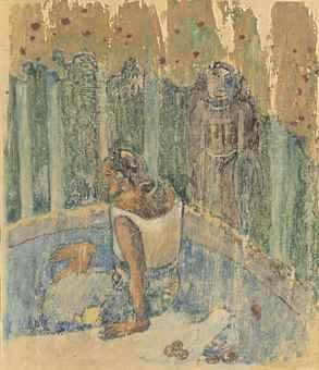 Paul Gauguin-Arearea no varua ino (Words of the Devil)-1894