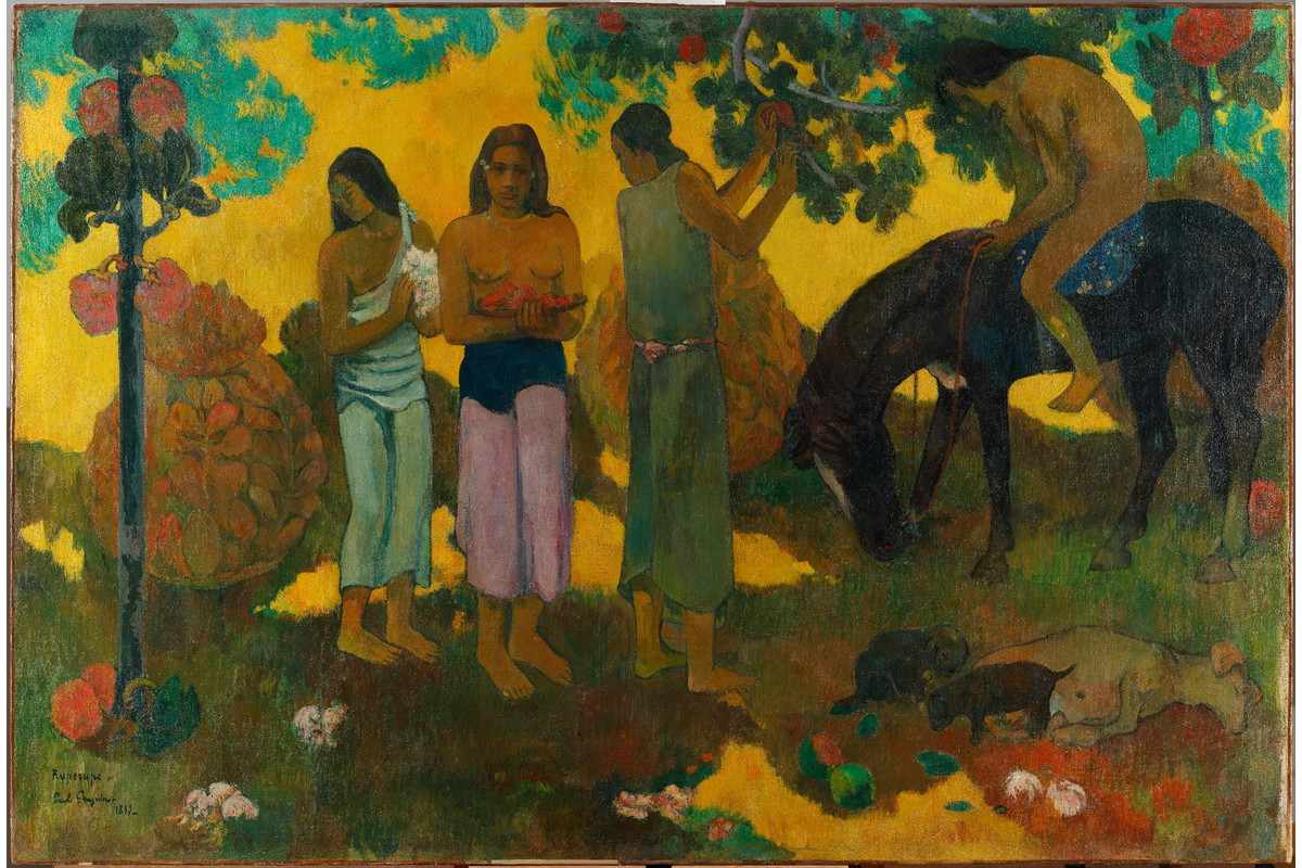 Paul Gauguin - Collecting fruits