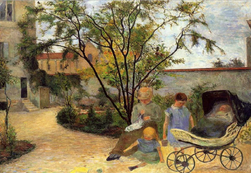 Paul Gauguin - Garden in Rue Carcel, 1883, photo credits wikiartorg pont aven impressionst paul paris life gogh gallery painting life portrait works