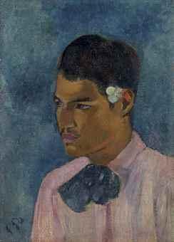 Paul Gauguin-Jeune homme a la fleur-1891