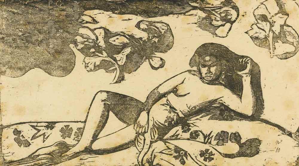 Paul Gauguin-La Femme Aux Mangos - Fatigue-1898