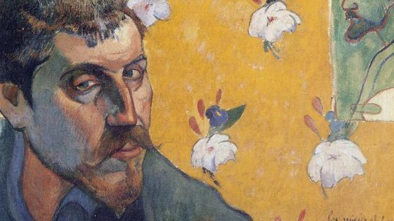 Paul Gauguin - Self Portrait, Les Miserables (Detail), 1888 - Image Copyright Gauguin Museum