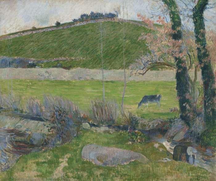 Paul Gauguin-Sur L'Aven En Amont De Pont-Aven-1888