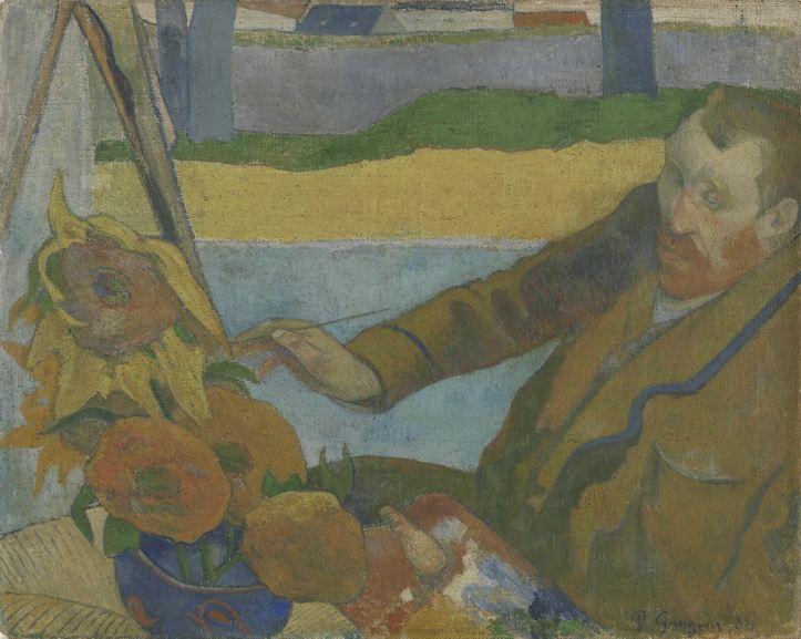 aul Gauguin - Vincent van Gogh Painting Sunflowers