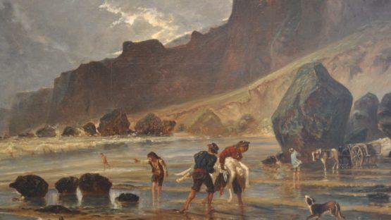 Paul Huet - Vue des falaises de Houlgatte - Image via wikipedia