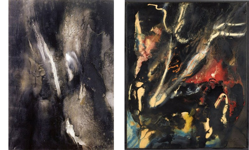 Paul Jenkins - Divining Rod, 1956, Paul Jenkins - East Hoof, 1959, abstract, early works, painting
