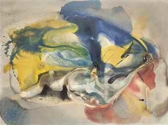 Paul Jenkins-Eyes of the Dove: Flying Carp-1959