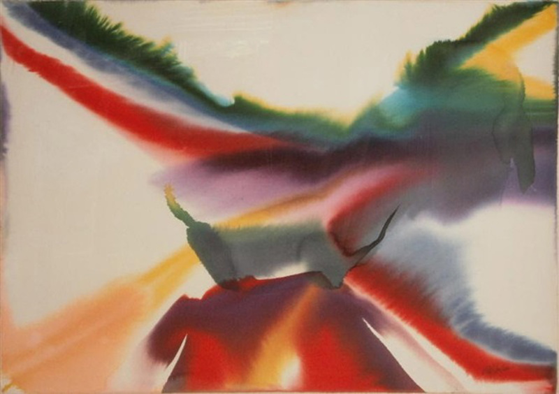 Paul Jenkins - Phenomena Zodiac, 1978, abstract painting