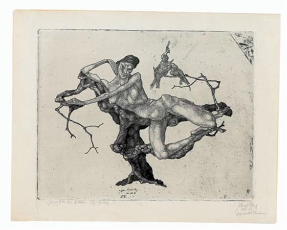 Paul Klee-Jungfrau im Baum, Invention 3-1903