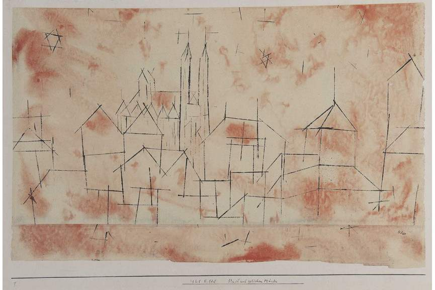 Paul Klee - Town with Gothic Cathedral