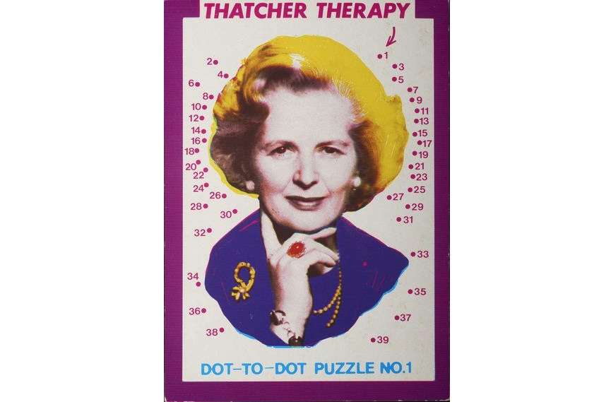 Paul Morton - Thatcher Therapy. Dot-to-Dot Puzzle. No. 1, 1984.
