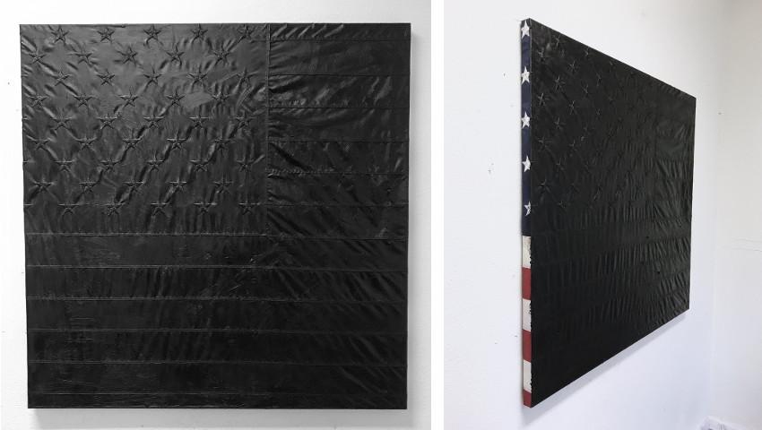 Paul Owen Weiner - Flag Paintings series, 2017