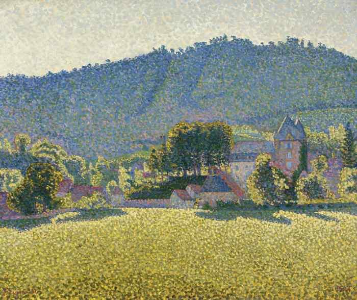 Paul Signac-Comblat-Le-Chateau, La Vallee-1887