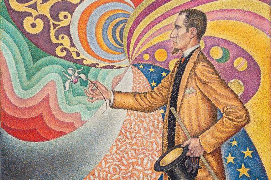 Paul Signac (French, 1863–1935) Opus 217. Against the Enamel of a Background Rhythmic with Beats and Angles, Tones, and Tints, Portrait of M. Félix Fénéon in 1890