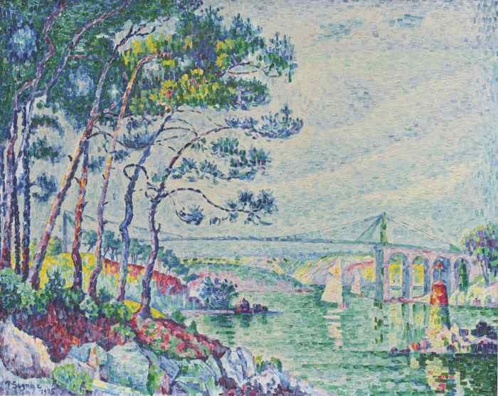 Paul Signac-Le Pont De Lezardrieux-1925
