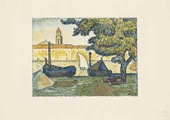 Paul Signac-Saint-Tropez II, from L'Estampe originale (Seventh Issue)-1894