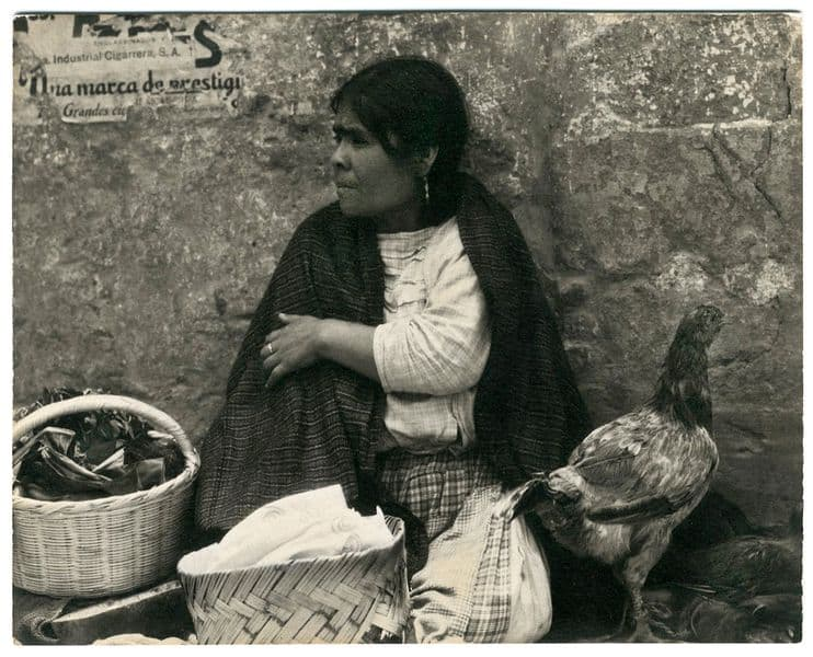 Paul Strand - Woman with Hen, Tenancingo, Mexico, 1933