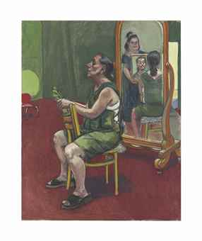 Paula Rego-Border Patrol: Self-portrait with Lila, Reflection and Ana-2004