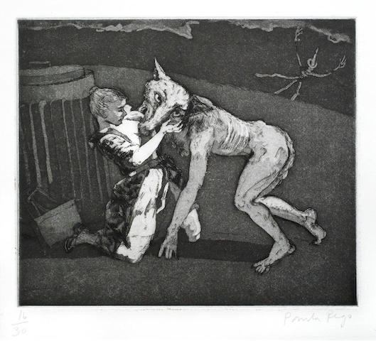 Paula Rego-Him, from Pendle Witches-1996