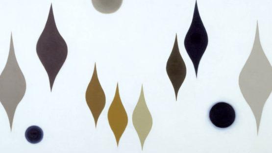 Paule Vezelay - Eight Forms and Three Circles, 1959 - image via tate