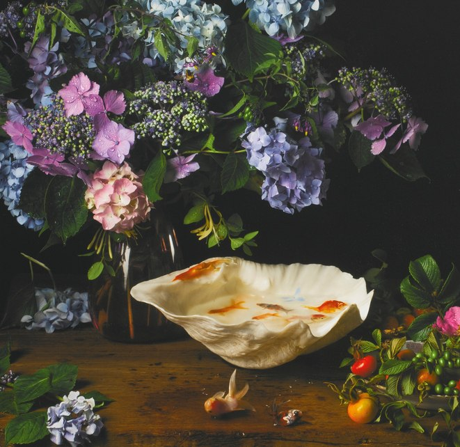 Paulette Tavormina-Flowers and Fish IV, After G. V. S.-2012
