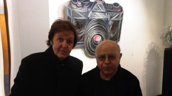Pavlos Dionysopoulos with Paul McCartney