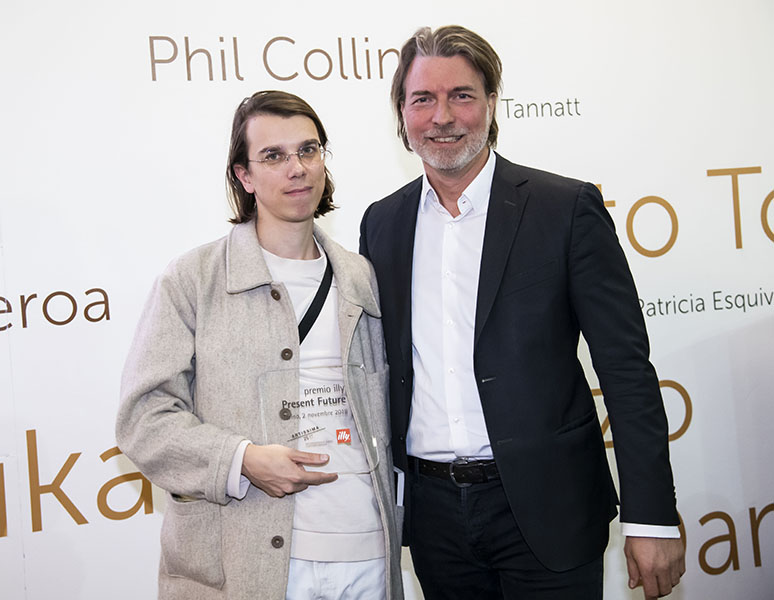 Pedro Neves Marques with Carlo Bach, Artissima 2018