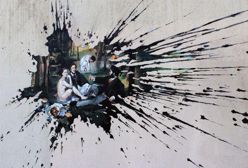 Pejac - Vandal-ism (detail) - Paris, 2014, street art, mural