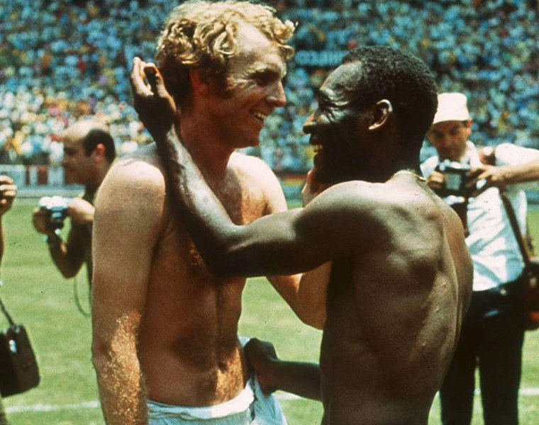 Pele and Bobby Moore, 1970