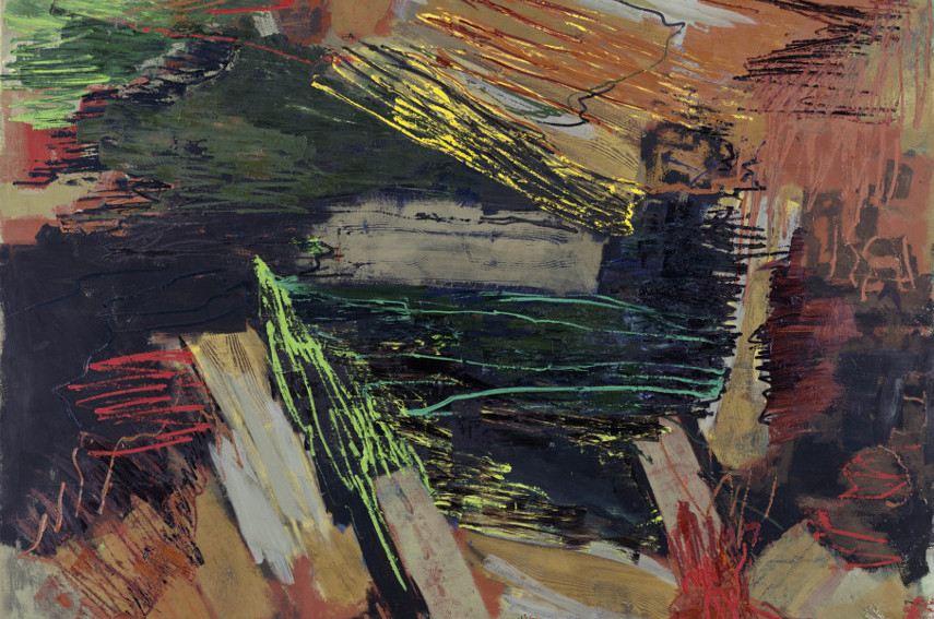 Per Kirkeby - Rage (detail), 2006 - Photo Credits Artnet - Modern Danish exhibition like that is a rarity