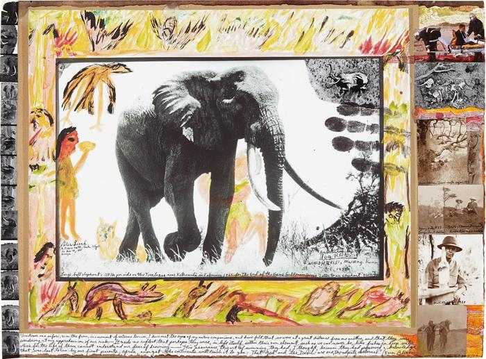 Peter Beard-Large Bull Elephant c. 110 lbs. per side on the Tiva lugga near Kathemula in February-1965