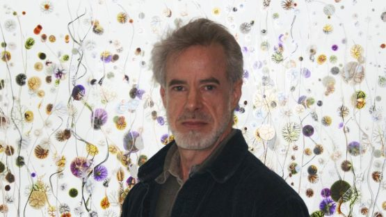 Peter Bynum  - Photo of the artist in his studio - Image via globallighting.com